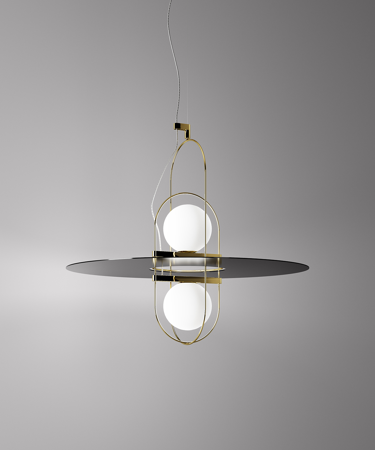 diffused lighting fixtures. The Light From Sphere Is Diffused Into Surrounding Space, Illuminating Frame. Reflections Of Metal Render Luminous Field Visible, Lighting Fixtures E